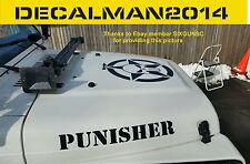 Jeep Wrangler The Punisher 5 Piece Set Vinyl Decals TJ LJ JK JKU