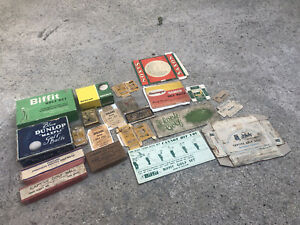 LOT OF VINTAGE PACKAGING / BOXES - GOLF RELATED - TEES ETC