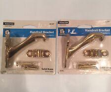 Lot Of 2 New Everbilt Solid Brass Handrail Brackets With Screws