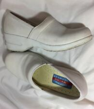 Cherokee Workwear Nursing Leather Clogs Comfort Shoes White Harmony Ladies Sz 7M