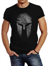 Herren T-Shirt Aufdruck Sparta Helm Spartan Warrior Fashion Streetstyle