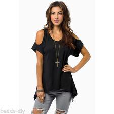 Women Sexy Off Shoulder Short Sleeve Blouse Casual Summer loose T-shirt Tops 5XL
