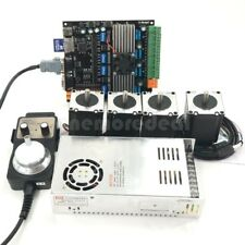 Cnc 4axis Nema23 Stepper Motors 57mdk2 Motor Controller Boardpower Kit Usb Dl