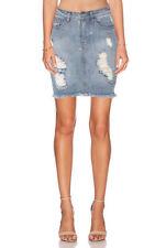 Denim High Waist Skirts for Women