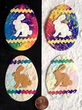 20 eggs bunnies Easter Bunny Diecut Batik Handmade Mulberry Paper Cards Crafts