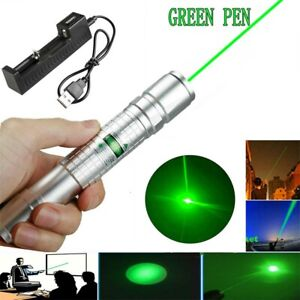 1MW 900Miles Green Laser Pointer Pen 532nm Visible Beam Lazer Charger~