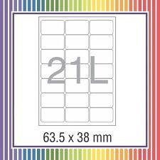NovaJet Multipurpose Label 21 - 38 x 63.5 WR 100 sheets A4 size Sticker Paper