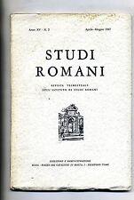 STUDI ROMANI# Trimestrale Ist. Studi Romani - Anno XV - N.2 #Aprile/Giugno 1967