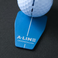 A-LINE BALL MARKER PUTTING AID (BULL) – IMPROVE YOUR 1 PUTT % (LINEFIX NOT INC.)