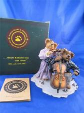 Boyds Bearstone Amanda & Michael String Section Cello Violin #228366 MIB 1E