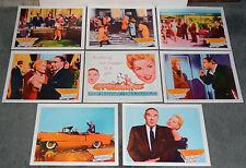 THE SOLID GOLD CADILLAC orig lobby card set JUDY HOLLIDAY/HIRSCHFELD artwork
