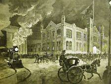 ARMORY PHILADELPHIA TRAIN HORSE CARRIAGE 1884 Art Matted