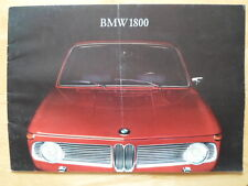 BMW 1800 Saloon 1965 1966 rare UK Market prestige brochure prospekt
