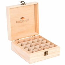 Plant Therapy Essential Oil Wood Storage Box Case | Holds 25 Bottles 5-15 mL