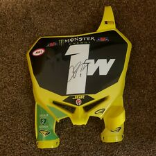 Justin Hill  JGR Suzuki team issued autographed Number plate