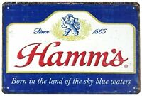 Hamm Brewing Beer Brewery Metal Tin Ad Sign Bar Pub Man Cave Garage Decor Gift