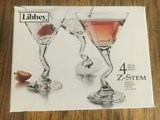 031009271061 Libby 4 Z-Stem Martini Cocktail Glass 4 pieces 9 oz.