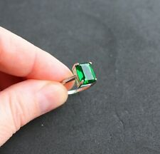 Women's 4.00 CTW Emerald-Cut Solitaire Emerald Ring in 925 Sterling Silver Sz 7