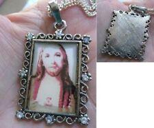 collier pendentif argent new age vintage nex christ pendant pecchina * 3861