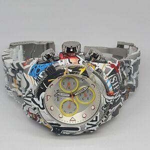 Invicta Bolt Zeus Graffiti Chronograph Men's Watch 52mm 27095 Hydroplated