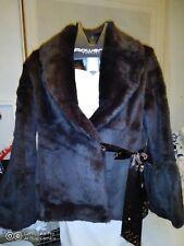 Brown real Rabbit Fur Jacket coat UK 12 , size M