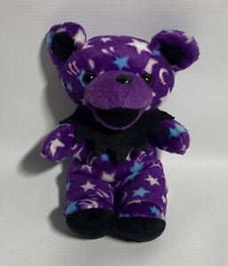 "Grateful Dead Beanie Bear DARK STAR Stuffed Plush Doll 7"" Liquid Blue Vintage"