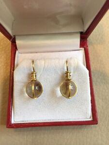 TEMPLE ST CLAIR 18K Gold & Crystal Pierced Earrings