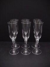 "Towle Tudor Crystal Champagne Flutes 8 3/4"" / Set of 6"