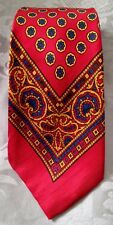 1940's Vintage Burkhardt's Art Deco Tie * 100% Silk * Red, Gold, Blue
