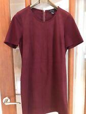 Ladies Atmosphere Burgundy Short Dress (Suede-look front) - UK Size 12