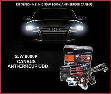 KIT XENON BALLAST CANBUS ANTI-ERREUR OBD 55W H11 8000K SLIM HID BMW E90, E91,E92
