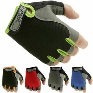 Breathable Half Finger Bike Gloves Anti-Skid Gel Padded Cycling Sports Gloves.
