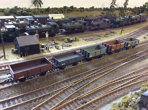 Kitbuilt 5 x Various Open Wagons. All Have Been Made And Painted To