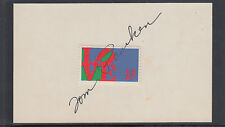 Tom Pauken, Director ACTION, signed 3x5 card with 8c Love stamp