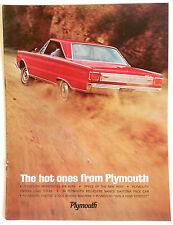New listing 1966 Original Plymouth Hemi Sales Brochure New Old Stock