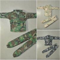 1/6 Scale Uniforms Suit Coveralls of 3 Pcs Woodland Desert Camo Fit HT B005 Body