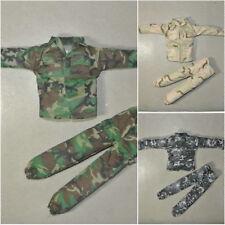 1/6 Scale Uniforms Suit Coveralls of 3 Pcs Woodland Desert Camo Fit HT B005 Body