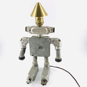 Vintage Industrial Steampunk Robot Desk Night Light Bedroom Bedside Lamp
