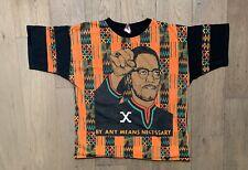 Vintage Malcolm X All Over Print T-Shirt Rap Tee 90s RARE Cross Colours Kacy