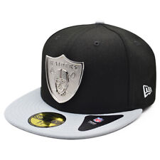 Oakland Raiders The SILVER TOUCH Fitted 59Fifty NFL Hat - Black/Gray/Silver