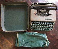 Smith Corona Skyriter Vintage Typewriter Green Keys Metal Case