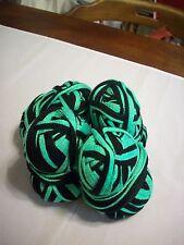 Yarn: (4) Skeins 3.6 Oz. Ea. Black & Lime Green (Possibly Starbella?) NO LABLELS