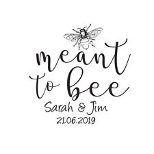 MEANT TO BEE SAVE THE DATE RUBBER STAMP WEDDING ENGAGEMENT