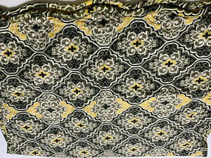 Quilted Medallion Olive Gold Paisley Queen Pillow Sham New