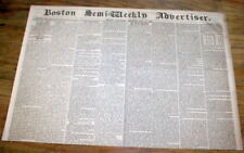 1860 newspaper w BOXING MATCH Heenan v Sayers + 1st PONY EXPRESS from CALIFORNIA
