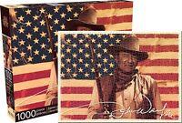 John Wayne Américain Drapeau 1000 Pièce Puzzle 690mm x 510mm (NM)