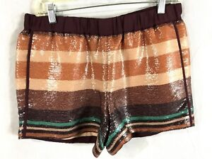 """Loft Dress Shorts Silky Lined Sequence Cocktail Club Shorts 3.5"""" EPOC SZ S"""