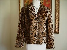 INC International Concepts Women's Animal Leopard Jacket Coat Size 12 NWOT