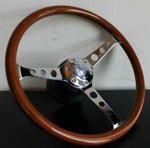 Steering Wheel Mercedes Benz Wood Blue W123 W124 W126 W201 R107 Wooden 1979-1992