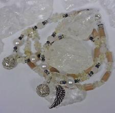 Halsketten und Anhänger mit Rosenquarz Echtschmuck aus Sterlingsilber für Damen